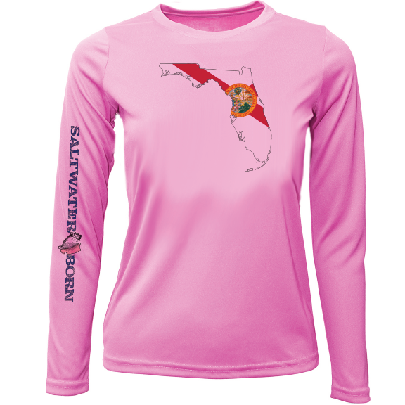 State of Florida Girls Long Sleeve UPF 50+ Dry-Fit Shirt