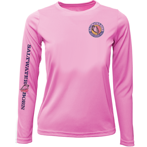 Saltwater Born Brand Girls Long Sleeve UPF 50+ Dry-Fit Shirt