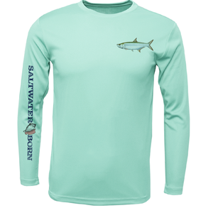SK Tarpon on Chest Long Sleeve UPF 50+ Dry-Fit Shirt