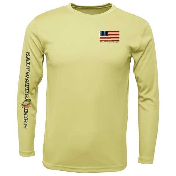 USA Snapper Long Sleeve UPF 50+ Dry-Fit Shirt