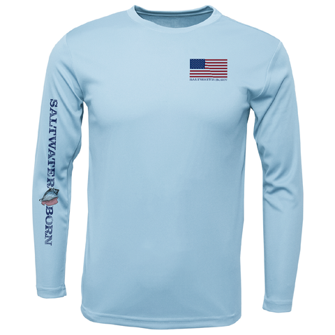 USA Yellowtail Long Sleeve UPF 50+ Dry-Fit Shirt