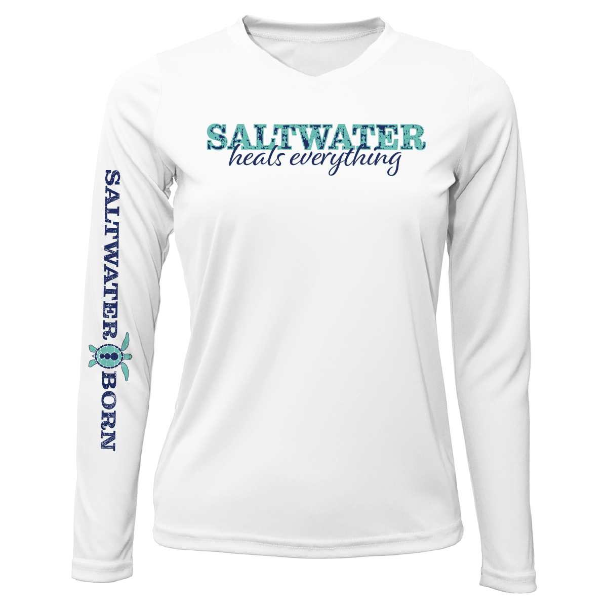 "Siesta Key ""Saltwater Heals Everything"" Long Sleeve UPF 50+ Dry-Fit Shirt"