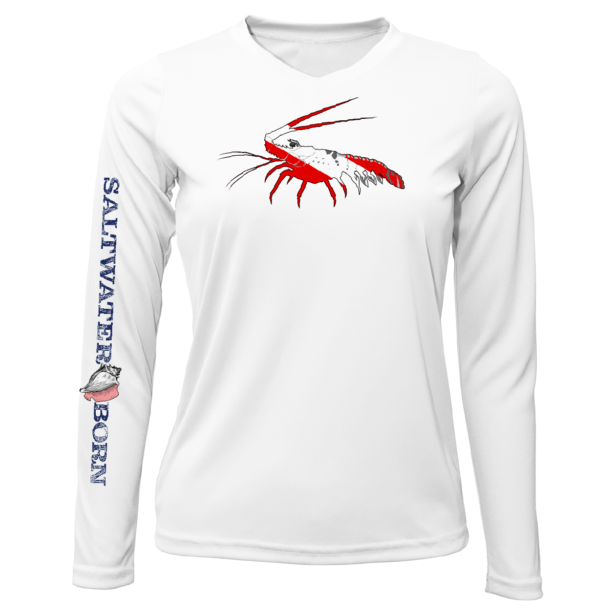 Florida Lobster Long Sleeve UPF 50+ Dry-Fit Shirt