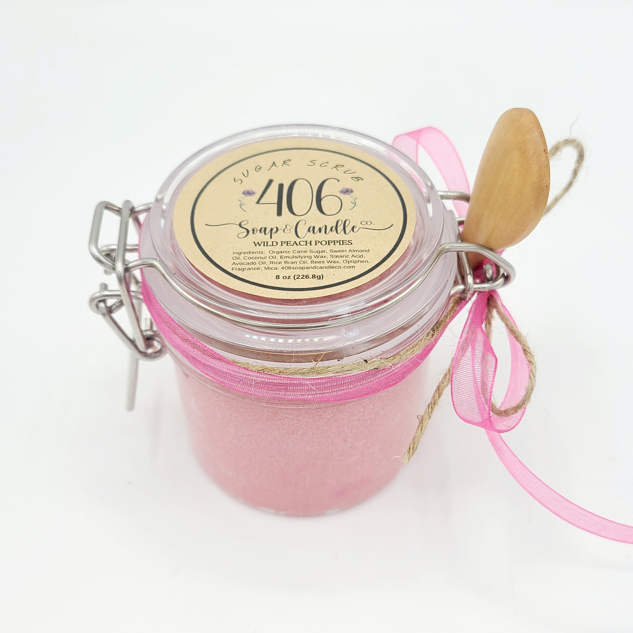Wild Peach Poppies Emulsified Sugar Scrub