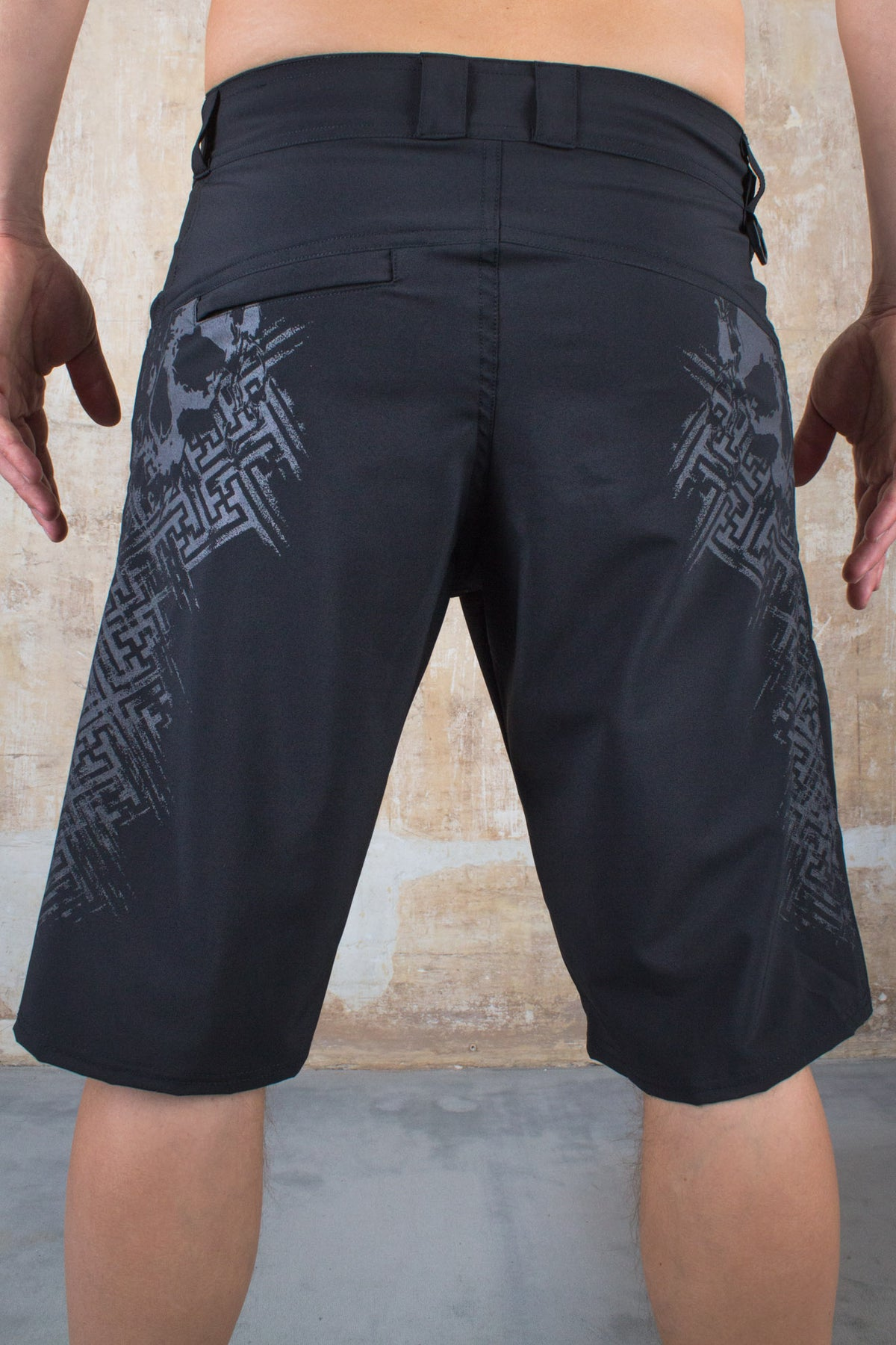 Skull Geometric Summer Shorts