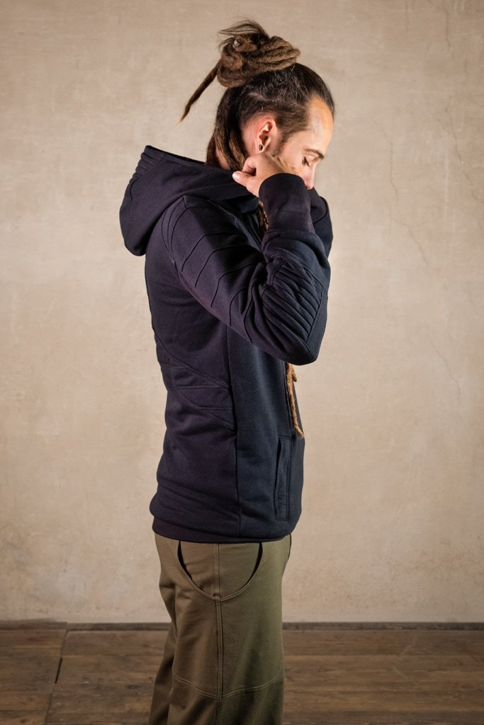 Mens Pullover | Cyberpunk Clothing in Assassins Creed Style | Post Apocalyptic | Star Wars Cosplay | Jumper Anakin Black