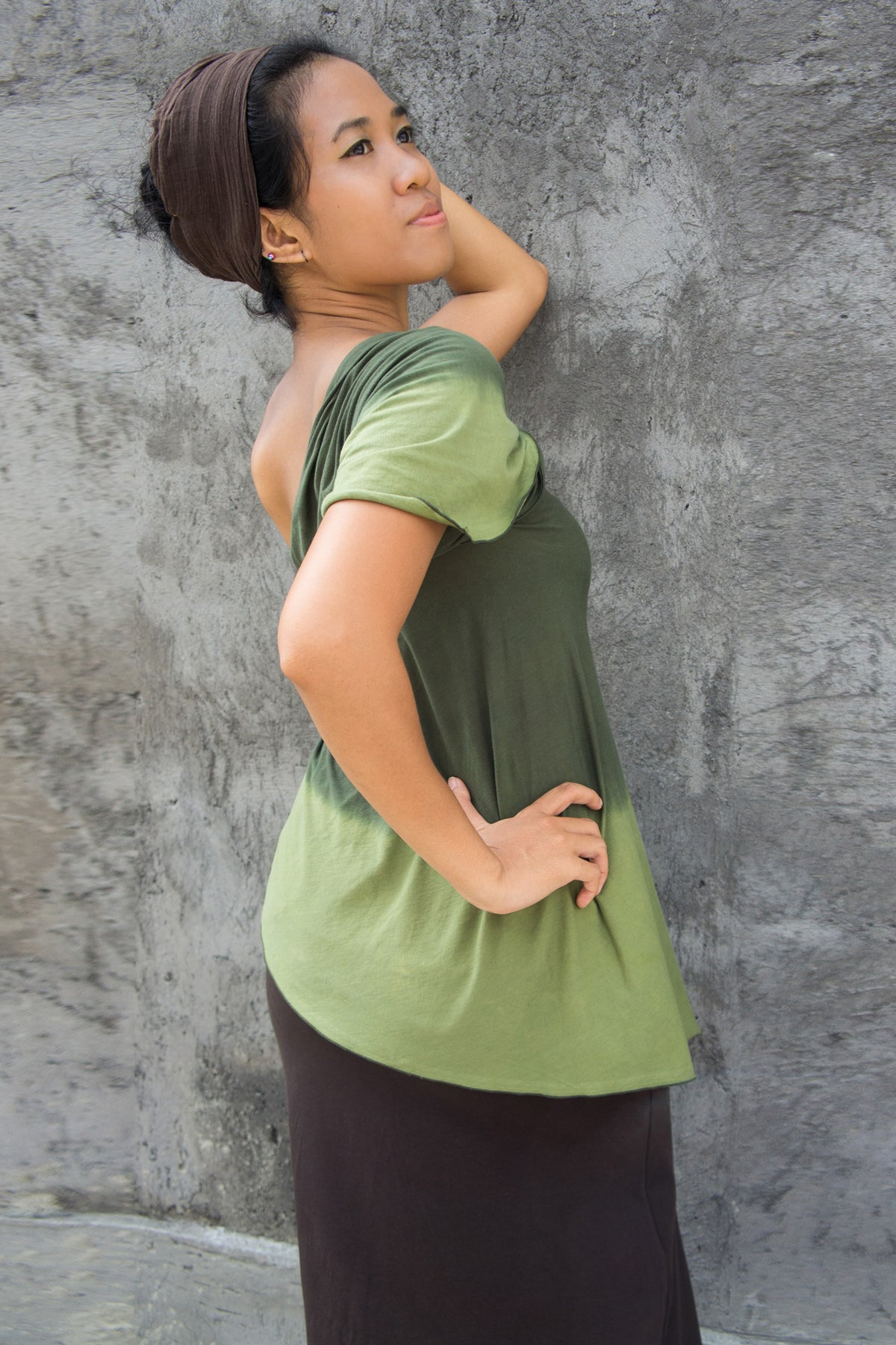Ombre Scarf, Top Green