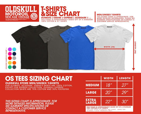 Old Skull Store Size Chart
