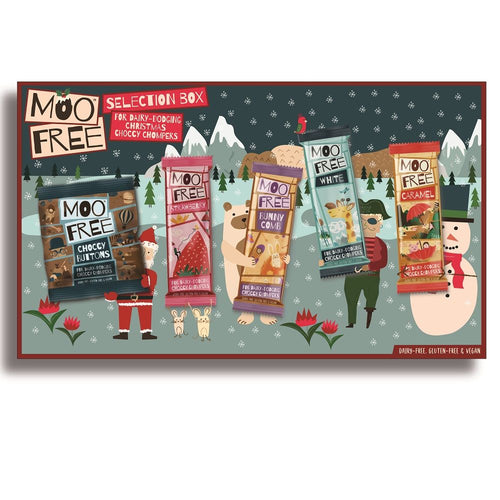 Moo Free Christmas Selection Box 105g.