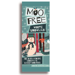 Moo Free Dairy Dodging White Choccy Snowman Bar 32g - Simply Vegan Sweets