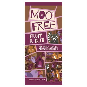 Moo Free Fruit & Nut Milk Chocolate Bar 80g.