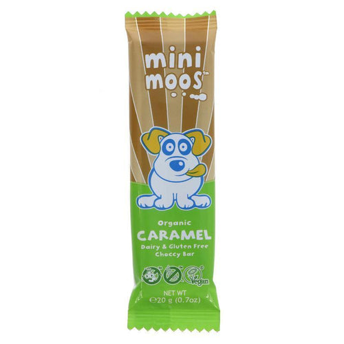 Moo Free Mini Moos Caramel Chocolate Bar 20g - Simply Vegan Sweets