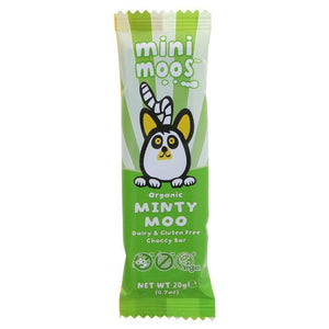 Moo Free Mini Moos Minty Moo Chocolate Bar 20g - Simply Vegan Sweets