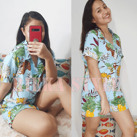 Sleepwear Short Set Pajama Short Terno