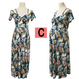 Cold Shoulder Floral Dress - Can be worn by Pregnant Women