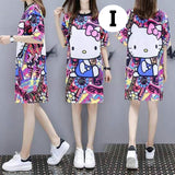 T-Shirt Dress, Character Loose Dress - For Ladies or Pregnant Women