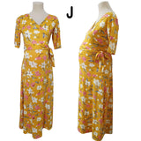 3/4 Sleeves Maxi Dress - Normal Dress, pregnancy Dress. Easy Access Nursing and Maternity Dress (Lany Dress)