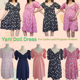 Yani Puffed Sleeves Dolly Dress For Ladies, Mommies and Pregnant Women