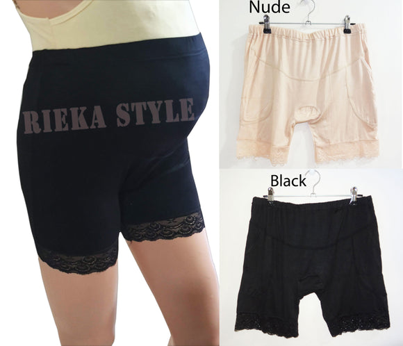 Maternity Shorts, Maternity Cycling, Pregnancy Under Shorts, Safety Shorts -High Waist