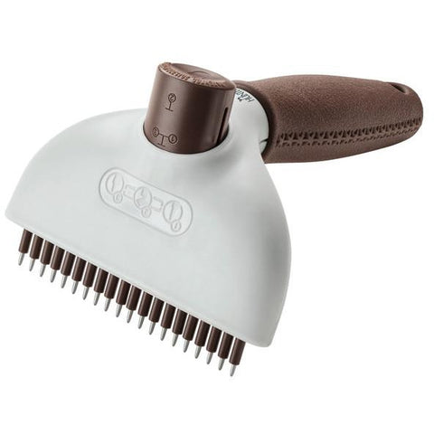 Hunter - Comb For Dogs Curry Comb Spa Self-Cleaning Brown-Grey