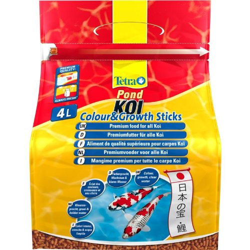 Tetra - Food For Fish Pond Koi Sticks Colour & Growth 1.2kg-4L