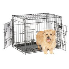 "Petmate - Wire Kennel Elite Retreat 2 Doors 24"" 25-30LBS - zoofast-shop"