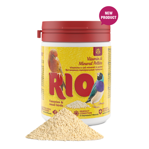 RIO- Vitamin & Mineral Pellets For Canaries, Exotic & Small Birds 120g
