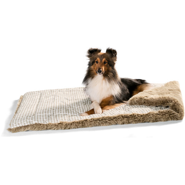 Hunter - Blanket For Dog Astana Checked Grey With Plush 120x80cm