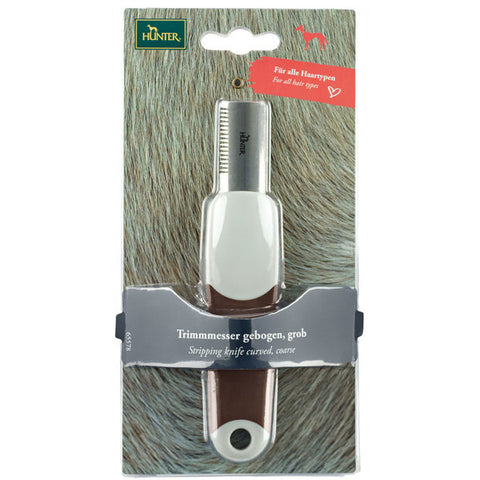 Hunter - Stripping Knife Spa Curved Coarse Brown-Grey