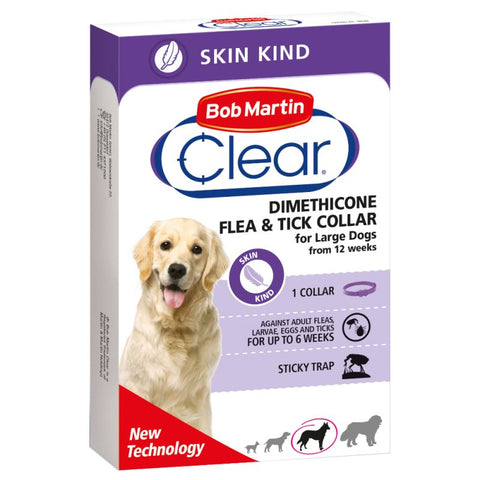 ZOOFAST - BOB MARTIN CLEAR FLEA COLLAR FOR LARGE DOGS