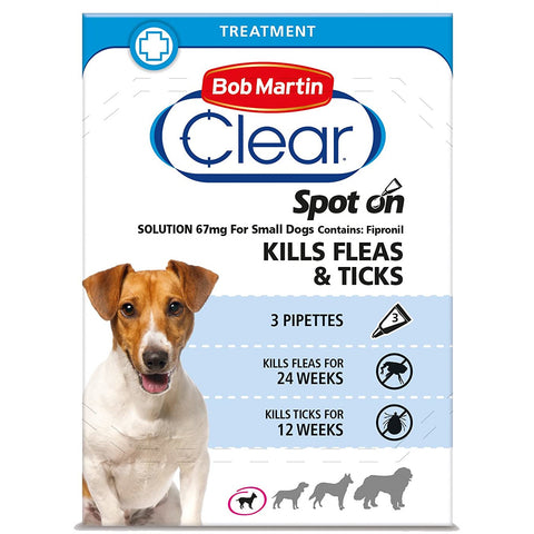 ZOOFAST - BOB MARTIN CLEAR SPOT ON FOR SMALL DOGS