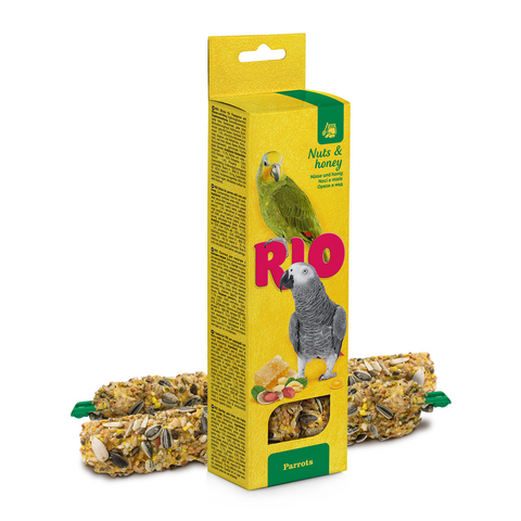 RIO- Sticks For Parrots With Honey & Nuts 2x90g