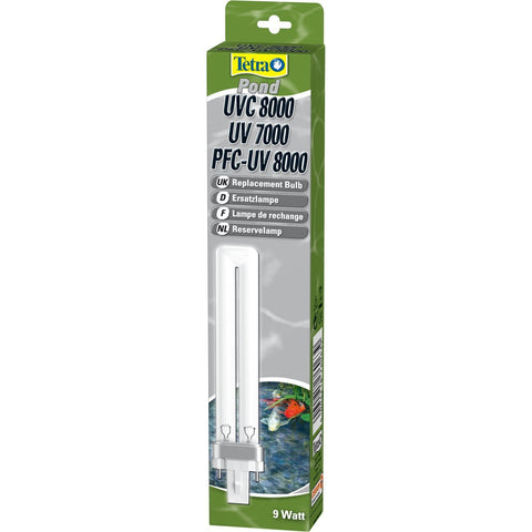 Tetra - Lamp Replacement For Ponds UV 7000-UVC 8000 9WATT - zoofast-shop