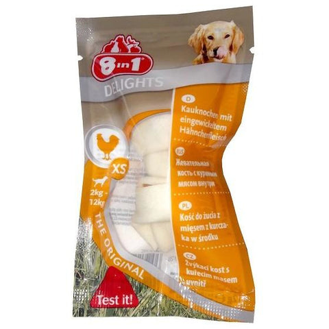 8in1 – Bones Delights Chicken XS 1pc/30pcs per box