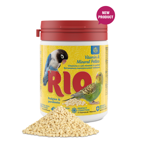 RIO- Vitamins & Mineral Pellet For Budgies & Parakeets 120g