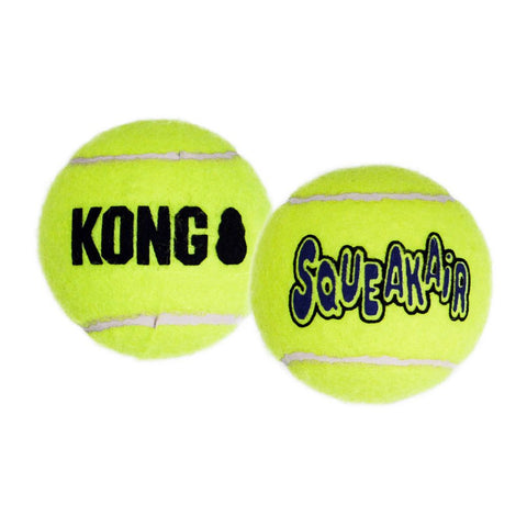 KONG - Air Squeaker Tennis Ball Large 2pcs