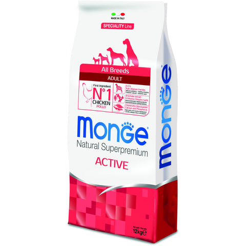 MONGE - Speciality Line All Breeds Adult Active with Chicken 12Kg