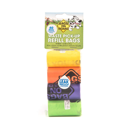 The Bramton Company - Waste Bags Pick-Up Rainbow 4x15pcs - zoofast-shop