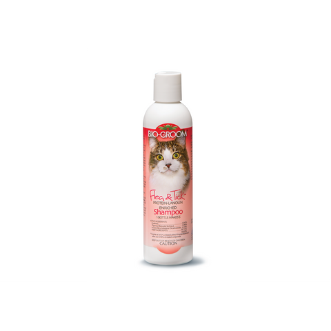 Bio Groom - Shampoo For Cats Flea & Tick Protein Lanolin 236ml - zoofast-shop