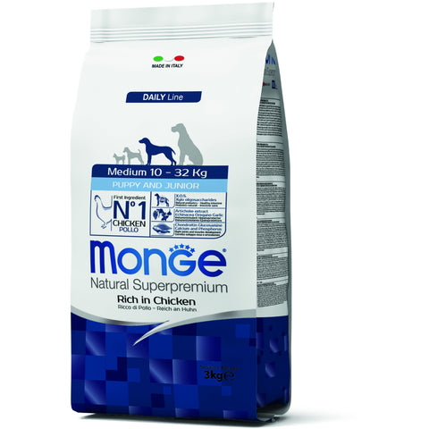 MONGE Daily Line Medium Puppy & Junior Chicken