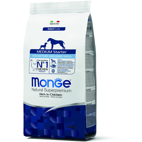 MONGE Daily Line Medium Starter Chicken 1.5kg