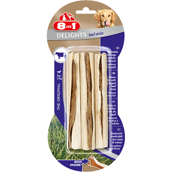 8in1 - Bones Delights Beef Sticks 3pcs 90g