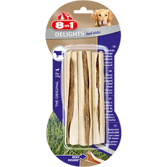 8in1 - Bones Delights Beef Sticks 3pcs 90g - zoofast-shop