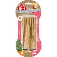 8in1 - Bones Delights Sticks Pork 3pcs - zoofast-shop
