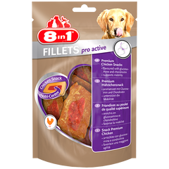 8in1 - Fillets Pro Active Chicken S 80g - zoofast-shop
