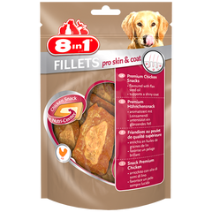 8in1 - Fillets Pro Skin & Coat Chicken S 80g - zoofast-shop