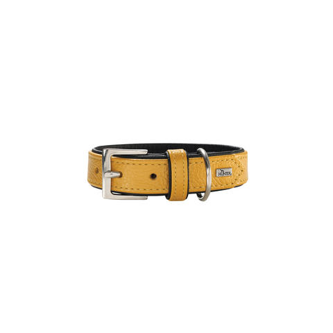 Hunter - Collar For Dog Capri Pearl Yellow-Black - zoofast-shop