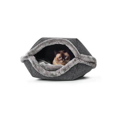 Hunter - Bed-Cave For Cat Lugano Anthracite 55cm - zoofast-shop
