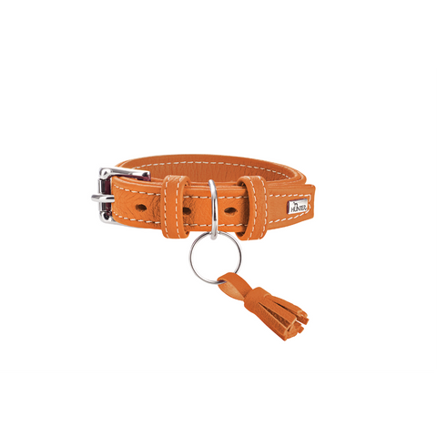 Hunter - Collar Leather Cannes Orange - zoofast-shop