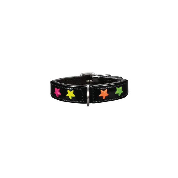 Hunter - Collar Leather For Dog Miami Mini Black 1.6cm